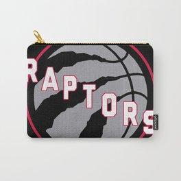 Raptors custom black logo Carry-All Pouch