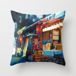 By Lantern Light Throw Pillow