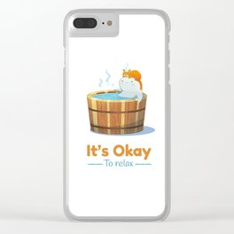 It's Okay to Relax Clear iPhone Case