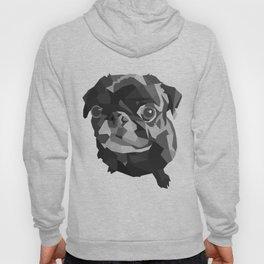 Pug Geometric art Black pugs Dog portrait Pet Hoody