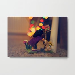 The Girl in the Purple Cloak Metal Print
