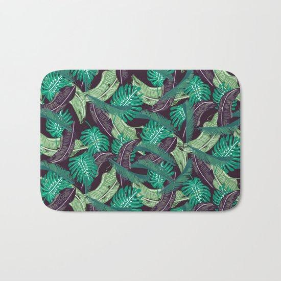 Tropical leaves I Bath Mat