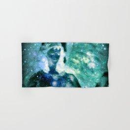 Blue Teal Celestial Angel Hand & Bath Towel