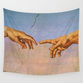 THE CREATION OF ADAM--- MICHELANGELO BUONARROTI Wall Tapestry
