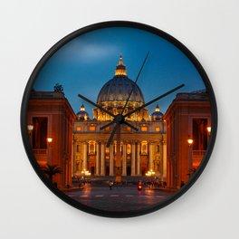 Basilica Papale di San Pietro in Vaticano - Rome - Italy Wall Clock