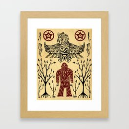 The Legend (Thunderbird Makes The Hairy Man Hide Himself) Framed Art Print