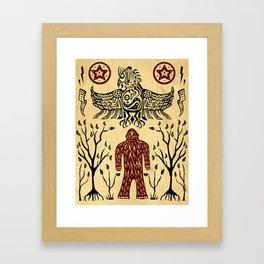 The Legend (Thunderbird Makes The Hairy Man Hide Himself) Framed Art Print