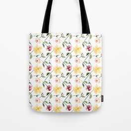 Watecolor Floral Repeat Pattern 1 Tote Bag
