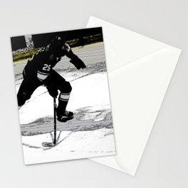 On the Move - Hockey Player Stationery Cards