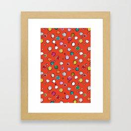 wilderdot cadmium Framed Art Print