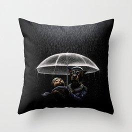 Cat & Dog Throw Pillow