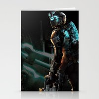 dead space Stationery Cards featuring Dead Space  by JAGraphic