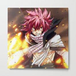 natsu blow fire Metal Print