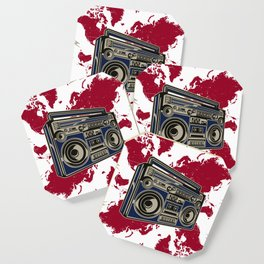 Boom Boom Box  - Red Coaster
