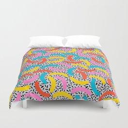 I Love Memphis Patterns Duvet Cover