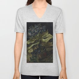 Cineraria's by Vincent van Gogh,1885 Unisex V-Neck