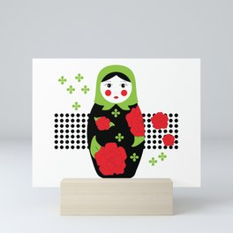 Pop-art Russian Doll Matryoshka Mini Art Print