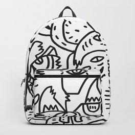 Soul Power Black and White Graffiti Street Art  Backpack