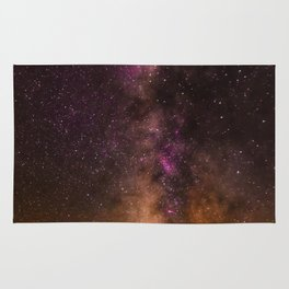 Milky Way over the Badlands South Dekota Rug