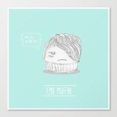 emo muffin Canvas Print