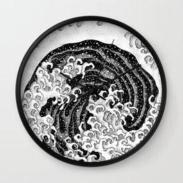 HATCH vs Hokusai: Waves (Feminine) Wall Clock