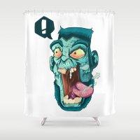 zombie Shower Curtains featuring Zombie. by Rachel Alderson