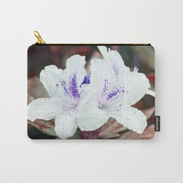 WHITE BLOSSOM - Rhododendron Carry-All Pouch