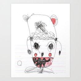 SAMMY MONSTER Art Print