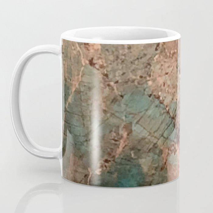 Marble Emerald Copper Blue Green Coffee Mug
