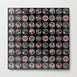top pattern II Metal Print