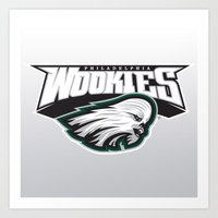 nfl Art Prints featuring Philadelphia Wookies - NFL by Steven Klock