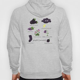 Colors: purple (Los colores: morado) Hoody