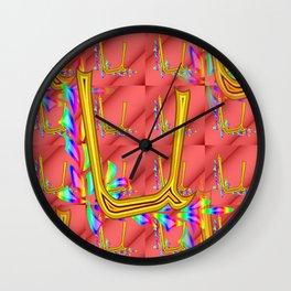 U - pattern 1 Wall Clock