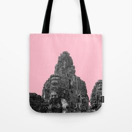 Angkor Wat with pink Tote Bag