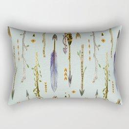 Tribal Feathers & Arrows Pattern Rectangular Pillow