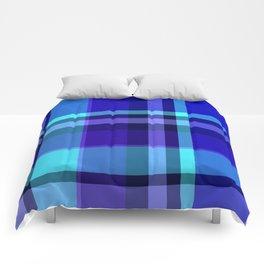 Blue Plaid Pattern Comforters