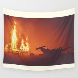 Dragon Burn Wall Tapestry
