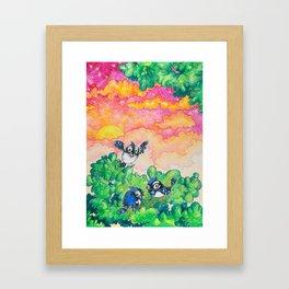 Summer: Bluejay Brothers Framed Art Print
