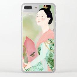 guan yin, goddess of mercy Clear iPhone Case