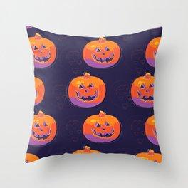 pumpkin with halloween Throw Pillow