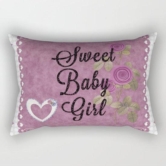 Sweet Baby Girl Rectangular Pillow