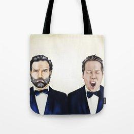 Adam and Joe Tote Bag