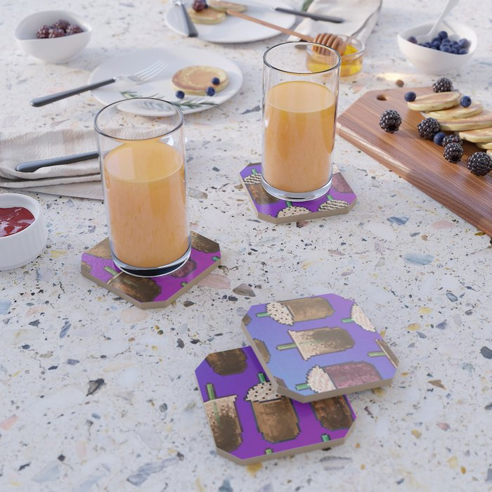 Cold Coffee Collage Coaster