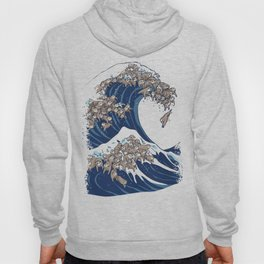 The Great Wave of Sloth Hoody