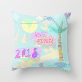 visit st. pete Throw Pillow