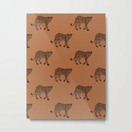 Leopard pattern - terracotta Metal Print