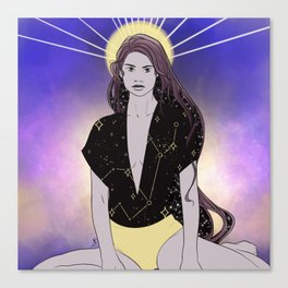 Iconic Virgo  Canvas Print