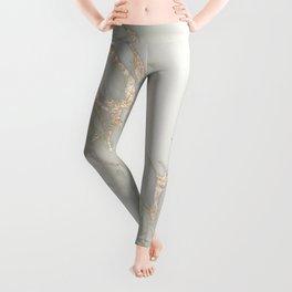 Marble Love Bronze Metallic Leggings