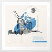 architect Art Prints featuring Architect by Kacper Kieć