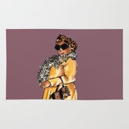 LADY (purple background) Rug